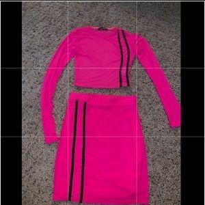 Fashion Nova Hot Pink Two Piece Set